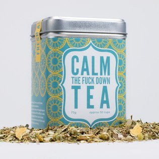 Picture of: Calm the F*ck Down Tea | Secret Santa Generator Gifts