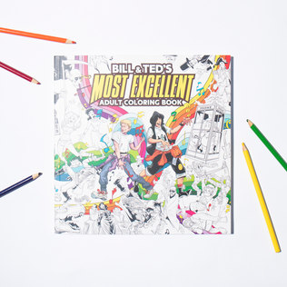 Picture of: Bill & Ted's Most Excellent Adult Colouring Book | Secret Santa Generator Gifts