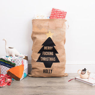 Picture of: Personalised Merry Fucking Christmas Sack | Secret Santa Generator Gifts