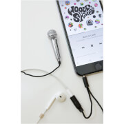 Picture of: Mini Karaoke Microphone - Silver | Secret Santa Generator Gifts