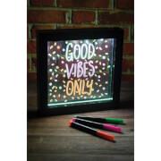 Picture of: Light Up Neon Effect Message Frame - Small | Secret Santa Generator Gifts
