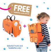 Picture of: Trunki Tipu Tiger Ride on Case (Includes Free Tipu ToddlePak Backpack) | Secret Santa Generator Gifts