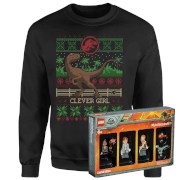 Picture of: Jurassic Park Limited Edition Lego Minifigures and Christmas Jumper Bundle - Men's - L - Black | Secret Santa Generator Gifts