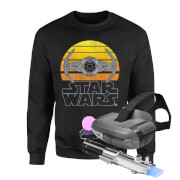 Picture of: Star Wars AR and Sweatshirt Bundle - Men's - L - Black | Secret Santa Generator Gifts