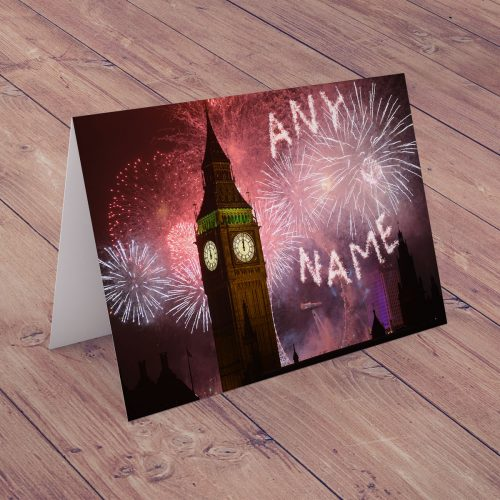 Picture of: Personalised Christmas Card - Fireworks Big Ben | Secret Santa Generator Gifts