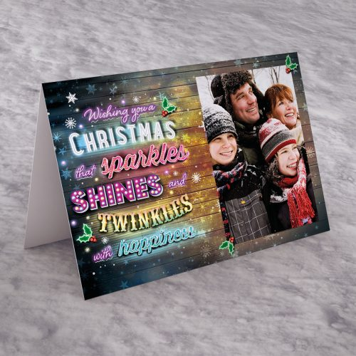 Picture of: Photo Upload Christmas Card - Sparkle