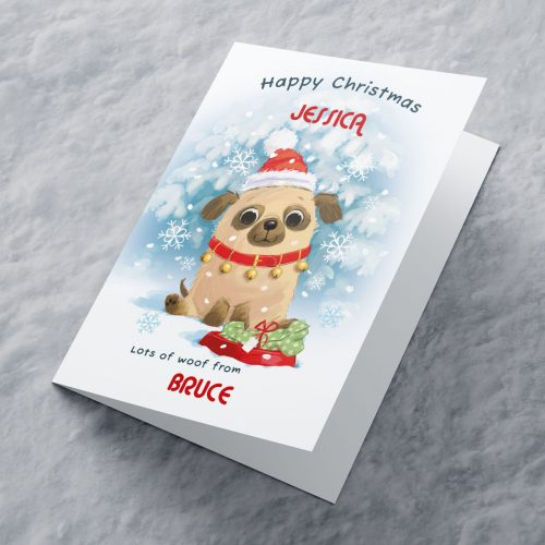 Picture of: Personalised Christmas Card - Lots Of Woof