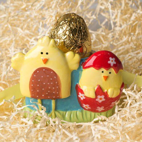 Picture of: Ceramic Egg Cup & Chocolate Egg | Secret Santa Generator Gifts