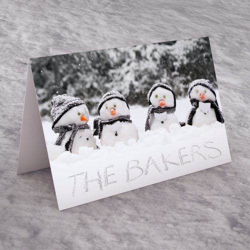 Picture of: Personalised Christmas Card - Snowman Family | Secret Santa Generator Gifts