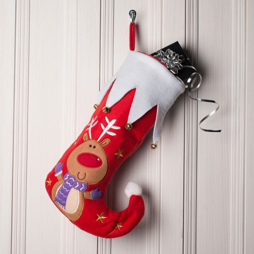 Picture of: Christmas Character Stocking - Reindeer | Secret Santa Generator Gifts