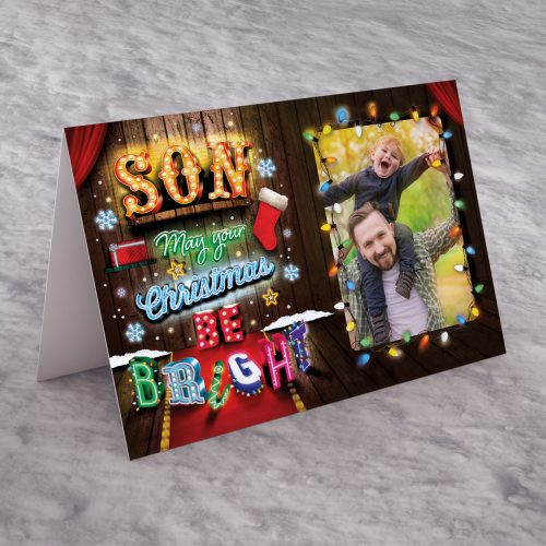 Picture of: Photo Upload Christmas Card - Son