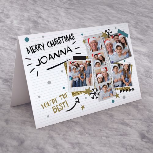 Picture of: Photo Upload Christmas Card - Polaroids