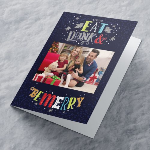 Picture of: Photo Upload Christmas Card - Eat Drink And Be Merry
