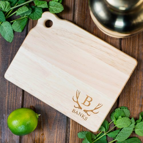 Picture of: Personalised Mini Chopping Board - Antlers | Secret Santa Generator Gifts