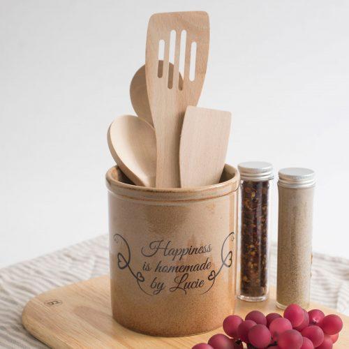Picture of: Personalised Rustico Utensil Jar | Secret Santa Generator Gifts