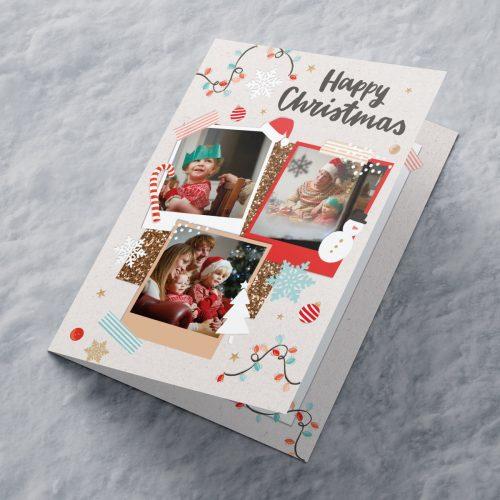 Picture of: Multi Photo Upload Christmas Card - Three Photos | Secret Santa Generator Gifts
