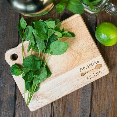 Picture of: Personalised Mini Wooden Chopping Board - My Kitchen | Secret Santa Generator Gifts