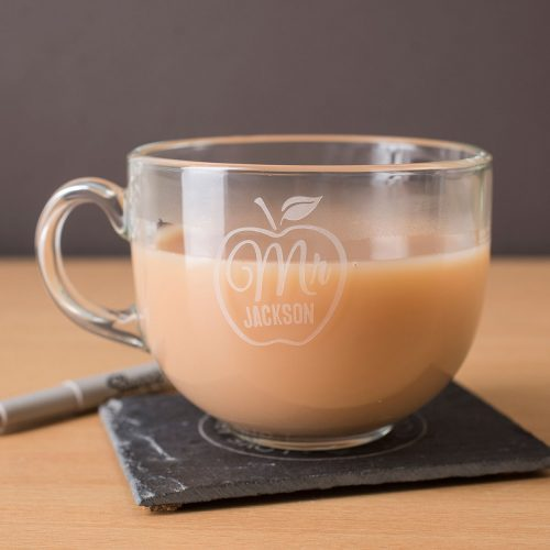 Picture of: Personalised Glass Teacup - Apple For Teacher | Secret Santa Generator Gifts