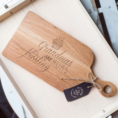 Picture of: Personalised Wooden Paddle Serving Board - Frosting | Secret Santa Generator Gifts