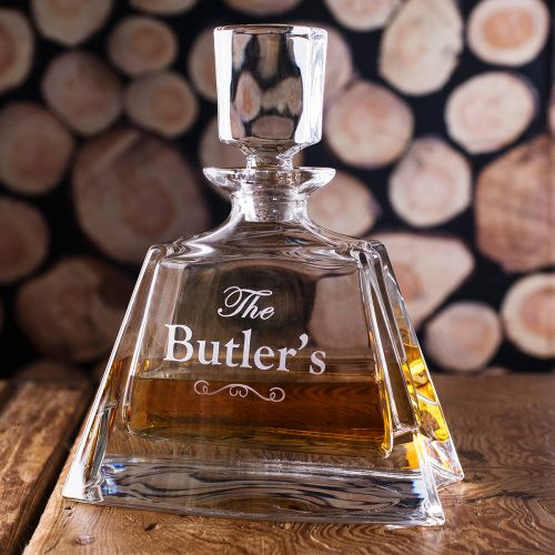 Picture of: Personalised Lead Crystal Boston Decanter - Family Name | Secret Santa Generator Gifts