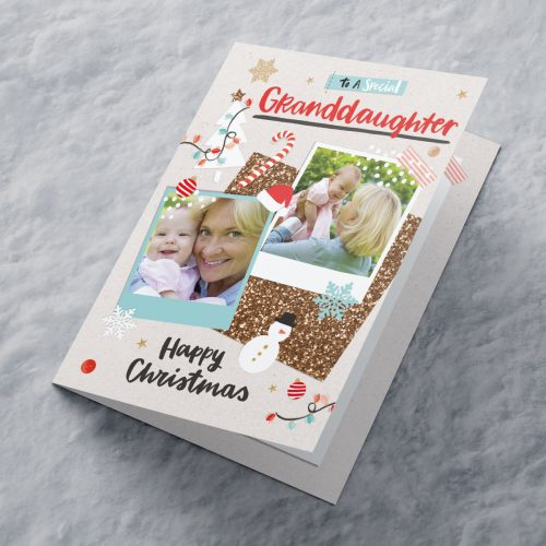 Picture of: Multi Photo Upload Christmas Card - Special Granddaughter | Secret Santa Generator Gifts