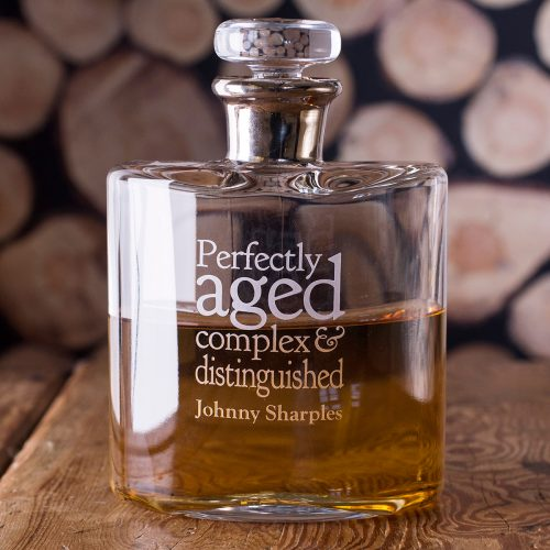 Picture of: Personalised LSA Flask Decanter - Perfectly Aged | Secret Santa Generator Gifts