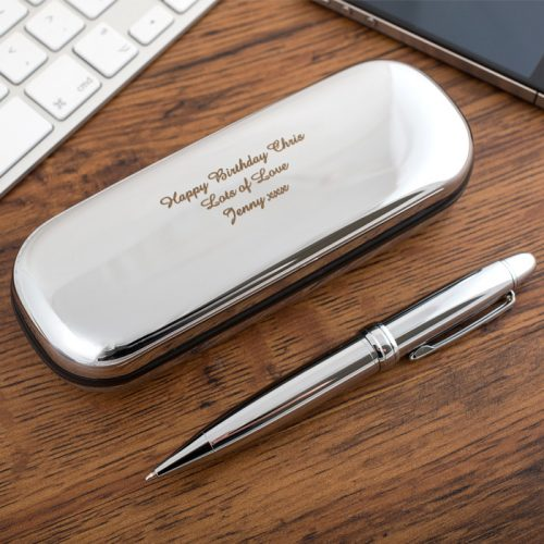 Picture of: Engraved Pen Holder And Pen | Secret Santa Generator Gifts
