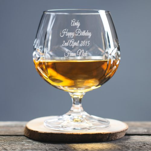 Picture of: Engraved Crystal Brandy Glass | Secret Santa Generator Gifts