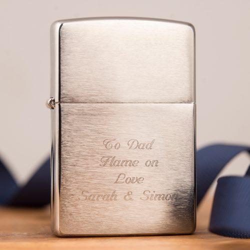 Picture of: Engraved Chrome Zippo Lighter | Secret Santa Generator Gifts
