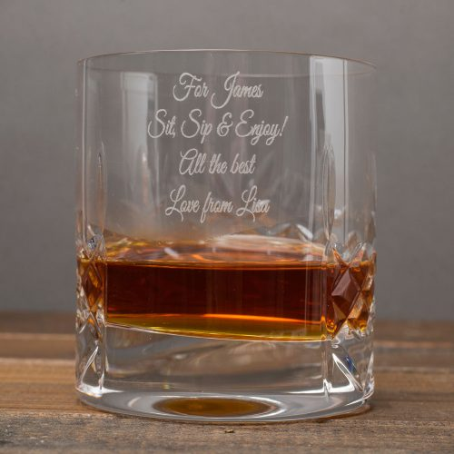 Picture of: Engraved Crystal Tumbler And Whisky Set | Secret Santa Generator Gifts