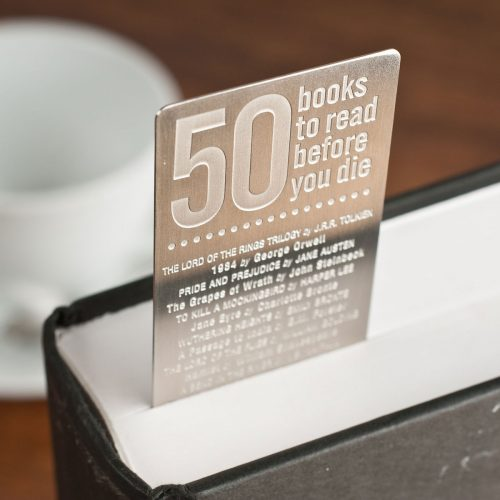 Picture of: Personalised '50 Books To Read Before you Die' Bookmark | Secret Santa Generator Gifts