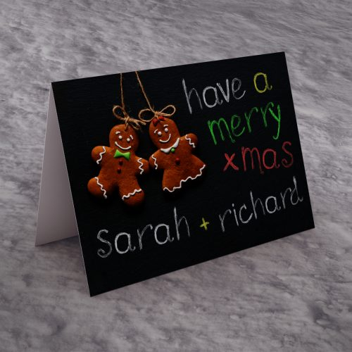 Picture of: Personalised Christmas Card - Christmas Chalk Board | Secret Santa Generator Gifts