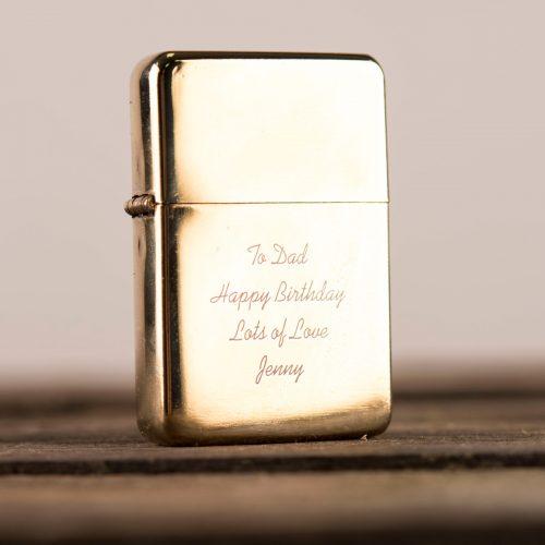 Picture of: Engraved Gold Lighter | Secret Santa Generator Gifts