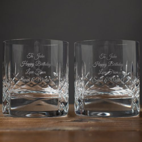 Picture of: Personalised Cut Crystal Whisky Tumblers | Secret Santa Generator Gifts