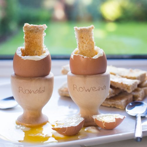 Picture of: Personalised His and Hers Wooden Egg Cups | Secret Santa Generator Gifts