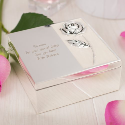 Picture of: Engraved Silver-Plated Mother-Of-Pearl Trinket Box | Secret Santa Generator Gifts