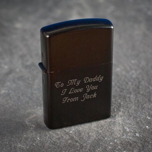 Picture of: Personalised Black Lighter | Secret Santa Generator Gifts