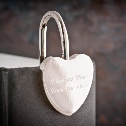 Picture of: Engraved Silver Heart-Shaped Bookmark | Secret Santa Generator Gifts
