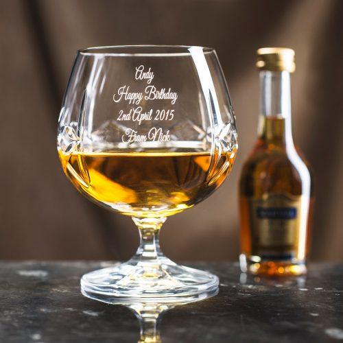 Picture of: Engraved Crystal Brandy Glass & Brandy Gift Set | Secret Santa Generator Gifts