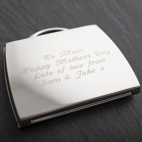 Picture of: Engraved Handbag Compact Mirror | Secret Santa Generator Gifts