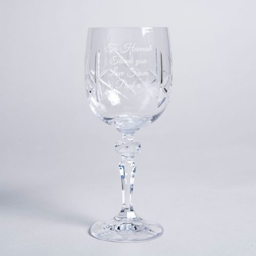 Picture of: Engraved Cut Crystal Wine Goblet | Secret Santa Generator Gifts