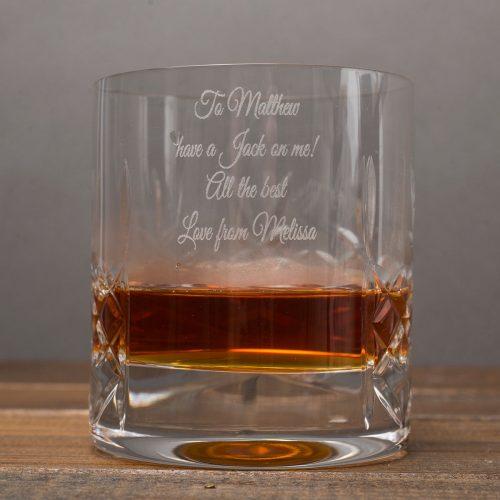 Picture of: Engraved Crystal Whisky Tumbler & Jack Daniels Gift Set | Secret Santa Generator Gifts