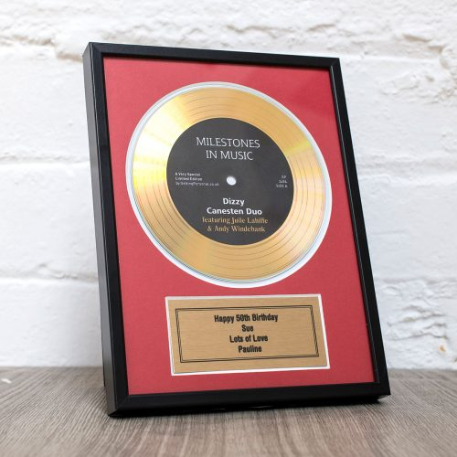 Picture of: Personalised and Framed Gold Didi Disc | Secret Santa Generator Gifts