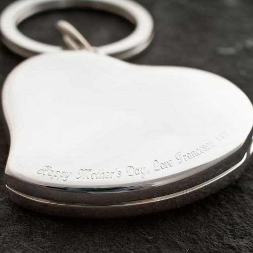 Picture of: Engraved Mother's Day Heart Photo Keyring | Secret Santa Generator Gifts
