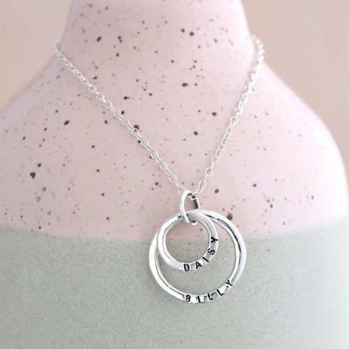 Picture of: Personalised Posh Totty Designs Mummy & Baby Sterling Silver Necklace | Secret Santa Generator Gifts