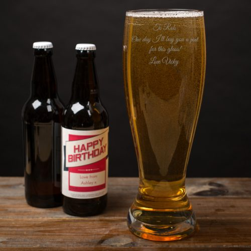 Picture of: Engraved Giant Beer Glass | Secret Santa Generator Gifts