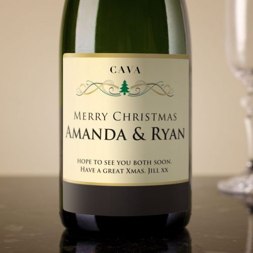 Picture of: Personalised Cava - Christmas Tree | Secret Santa Generator Gifts