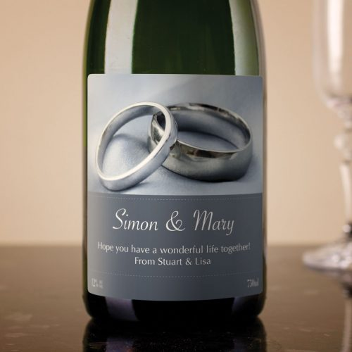 Picture of: Personalised Cava - Wedding Rings | Secret Santa Generator Gifts