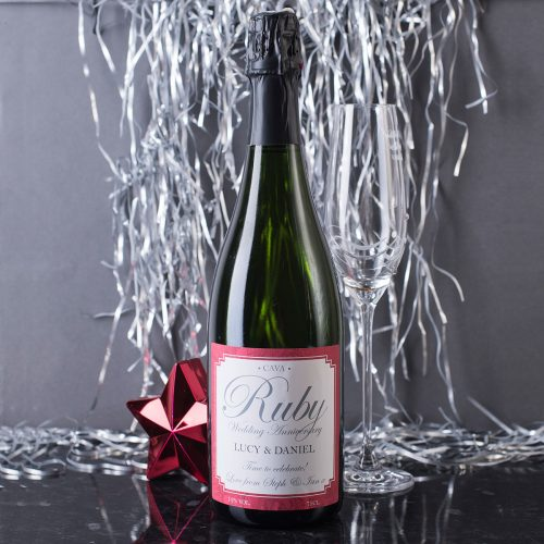 Picture of: Personalised Cava - Ruby Anniversary | Secret Santa Generator Gifts
