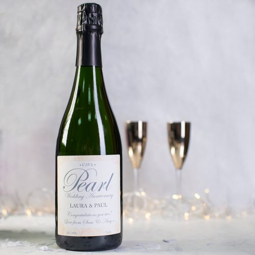 Picture of: Personalised Cava - Pearl Anniversary | Secret Santa Generator Gifts